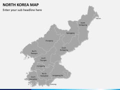 North korea map PPT slide 2