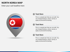 North korea map PPT slide 21