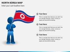 North korea map PPT slide 22