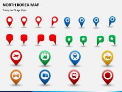 North korea map PPT slide 23