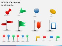 North korea map PPT slide 24