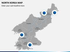 North korea map PPT slide 4