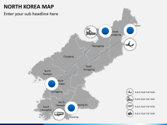 North korea map PPT slide 5
