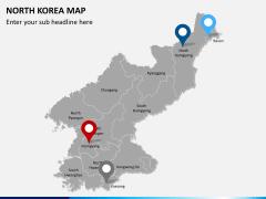 North korea map PPT slide 6