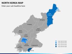 North korea map PPT slide 8