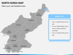 North korea map PPT slide 9
