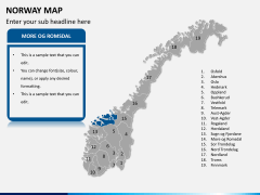 Norway map PPT slide 10