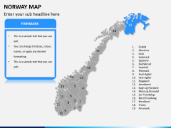 Norway map PPT slide 11