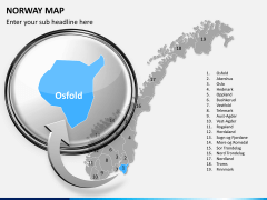 Norway map PPT slide 12