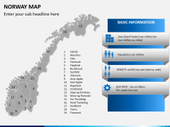 Norway map PPT slide 14