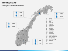 Norway map PPT slide 15
