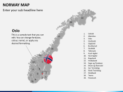 Norway map PPT slide 16