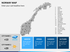 Norway map PPT slide 17