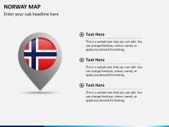 Norway map PPT slide 18