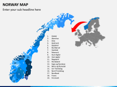 Norway map PPT slide 2