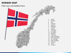 Norway map PPT slide 3