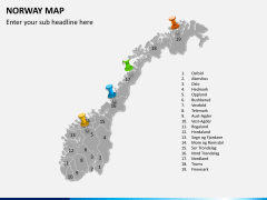 Norway map PPT slide 4