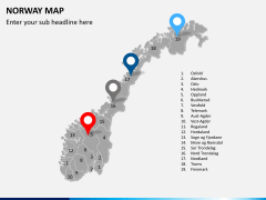 Norway map PPT slide 5
