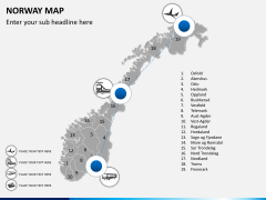 Norway map PPT slide 6