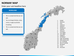 Norway map PPT slide 9