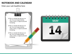 Notebook calendar PPT slide 9
