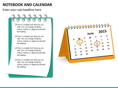 Notebook calendar PPT slide 10