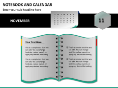 Notebook calendar PPT slide 11