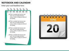 Notebook calendar PPT slide 12