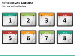 Notebook calendar PPT slide 16