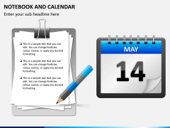 Notebook calendar PPT slide 1