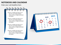 Notebook calendar PPT slide 2