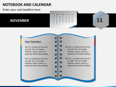 Notebook calendar PPT slide 3