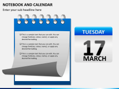 Notebook calendar PPT slide 6