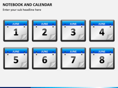 Notebook calendar PPT slide 8