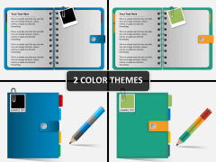Notebook papers PPT cover slide