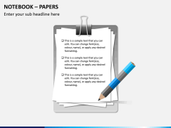 Notebook papers PPT slide 5