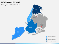 New York City map PPT slide 10