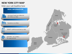 New York City map PPT slide 13