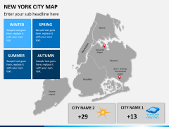New York City map PPT slide 14