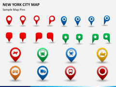 New York City map PPT slide 16