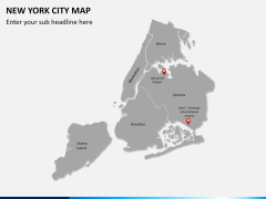 New York City map PPT slide 3