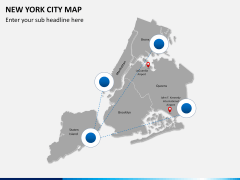 New York City map PPT slide 5