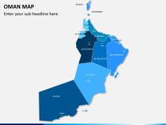 Oman map PPT slide 1