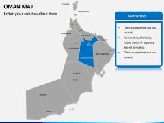 Oman map PPT slide 11
