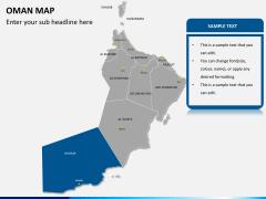 Oman map PPT slide 12