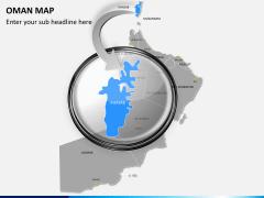 Oman map PPT slide 13