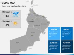 Oman map PPT slide 20