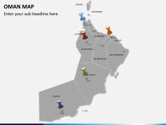 Oman map PPT slide 3