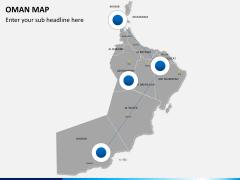 Oman map PPT slide 4