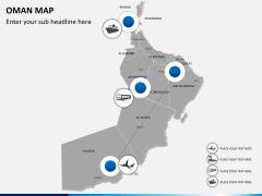 Oman map PPT slide 5